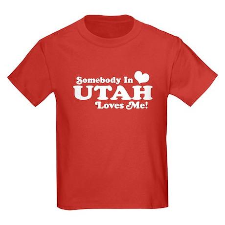 Somebody In Utah Loves Me Kids Dark T-Shirt