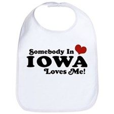 Somebody In Iowa Loves Me Bib