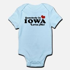 Somebody In Iowa Loves Me Infant Bodysuit