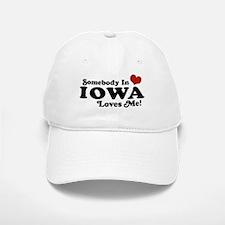 Somebody In Iowa Loves Me Baseball Baseball Cap