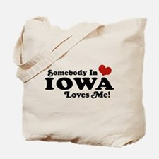 Somebody In Iowa Loves Me Tote Bag