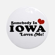 Somebody In Iowa Loves Me Ornament (Round)