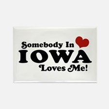Somebody In Iowa Loves Me Rectangle Magnet