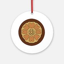 White Lotus Ornament (Round)