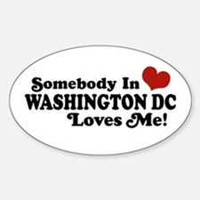 Somebody In Washington DC Oval Decal