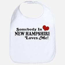 Somebody In New Hampshire Loves Me Bib