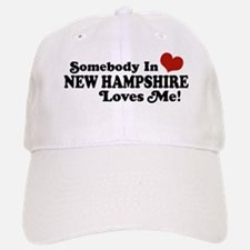 Somebody In New Hampshire Loves Me Baseball Baseball Cap