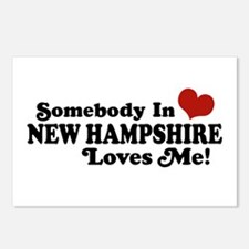Somebody In New Hampshire Loves Me Postcards (Pack