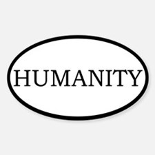 Humanity Oval Decal