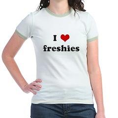 I Love freshies Jr. Ringer T-Shirt