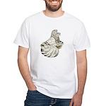 English Trumpeter Brown Splas White T-Shirt