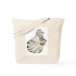 English Trumpeter Brown Splas Tote Bag