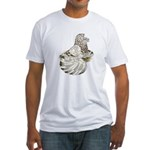English Trumpeter Brown Splas Fitted T-Shirt