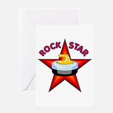 """Rock Star (Curling)"" Greeting Card"