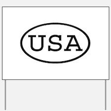 USA Oval Yard Sign