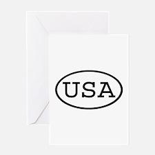 USA Oval Greeting Card