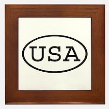 USA Oval Framed Tile