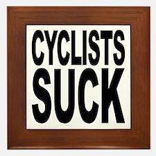 Cyclists Suck Framed Tile