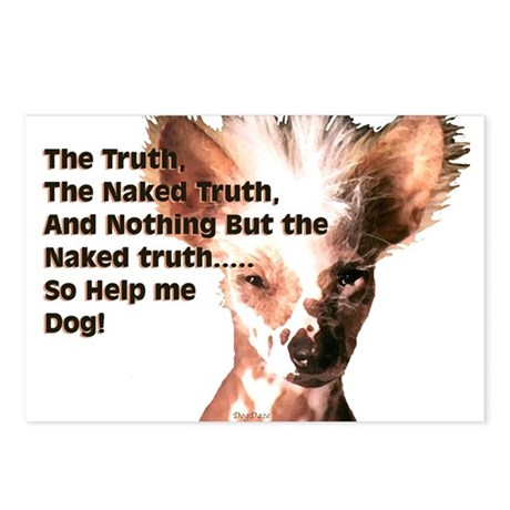 Chinese Crested Naked Truth Postcards (Package of