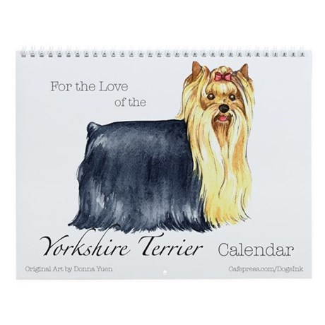Yorkshire Terrier Wall Calendar