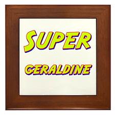 Super geraldine Framed Tile