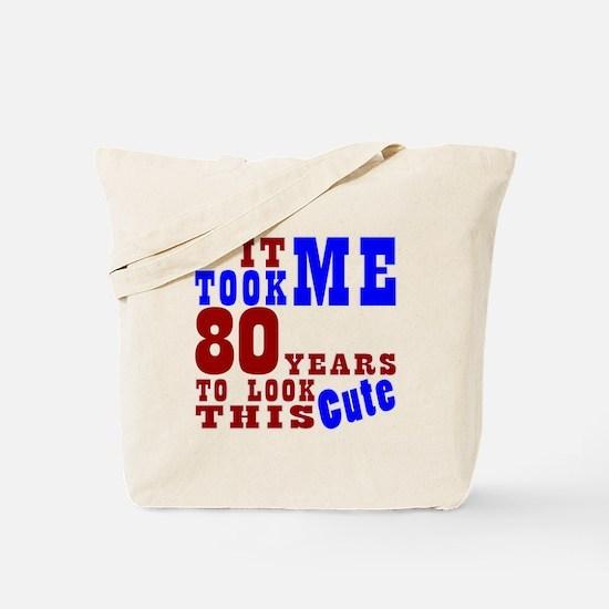 80 Cute Birthday Tote Bag