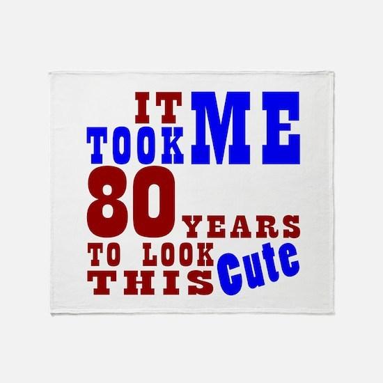 80 Cute Birthday Throw Blanket