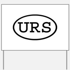 URS Oval Yard Sign