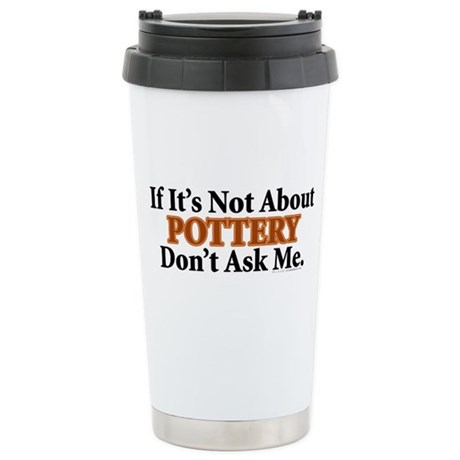 Pottery Stainless Steel Travel Mug
