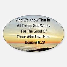ROMANS 8:28 Sticker (Oval)