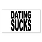 Dating Sucks Rectangle Sticker