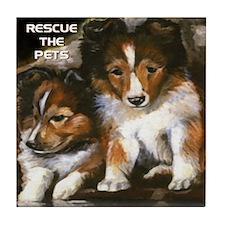 Rescue the Pets Tile Coaster