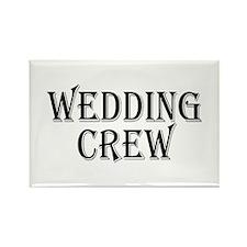 Wedding Crew Rectangle Magnet