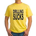 Drilling Sucks Yellow T-Shirt