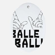 Balle Balle Oval Ornament