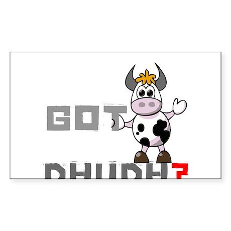 Got Dhudh? Rectangle Sticker