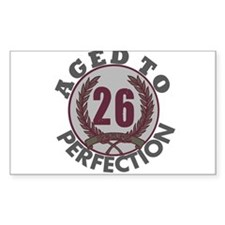 Aged to Perfection 26 Rectangle Decal