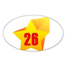 Heart All Star 26 Oval Decal