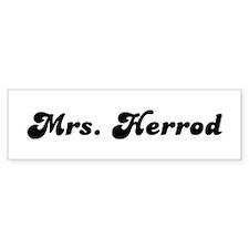Mrs. Herrod Bumper Car Sticker