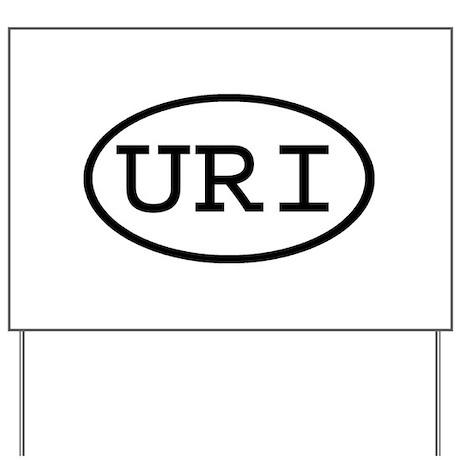 URI Oval Yard Sign