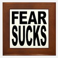 Fear Sucks Framed Tile
