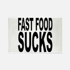 Fast Food Sucks Rectangle Magnet