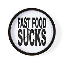 Fast Food Sucks Wall Clock