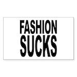 Fashion Sucks Rectangle Sticker 50 pk)