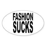 Fashion Sucks Oval Sticker