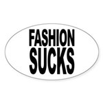 Fashion Sucks Oval Sticker (10 pk)