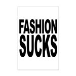 Fashion Sucks Mini Poster Print