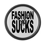 Fashion Sucks Large Wall Clock