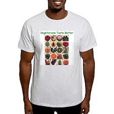 Veg*ns Taste Better Ash Grey T-Shirt