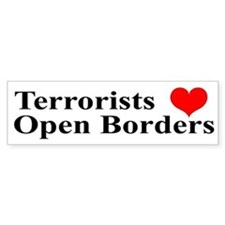 Terrorists Love Open Borders (Bumper)